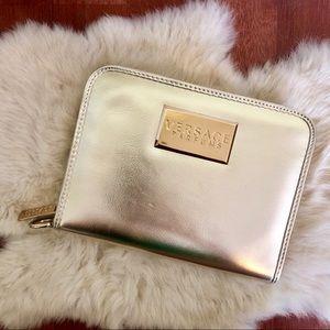NEW! Versace Parfums Shimmery Gold Zipper Clutch✨